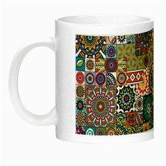 Ornamental Mosaic Background Night Luminous Mugs