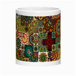 Ornamental Mosaic Background Night Luminous Mugs Center