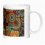 Ornamental Mosaic Background Night Luminous Mugs Right