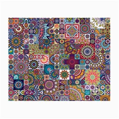 Ornamental Mosaic Background Small Glasses Cloth