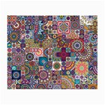 Ornamental Mosaic Background Small Glasses Cloth Front