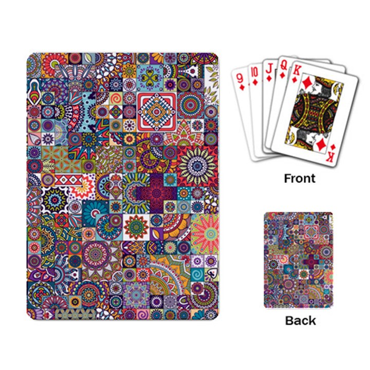 Ornamental Mosaic Background Playing Card