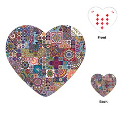 Ornamental Mosaic Background Playing Cards (heart)