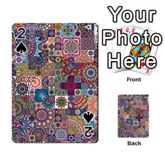 Ornamental Mosaic Background Playing Cards 54 Designs