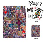 Ornamental Mosaic Background Playing Cards 54 Designs  Front - Heart3