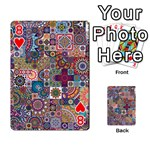 Ornamental Mosaic Background Playing Cards 54 Designs  Front - Heart8