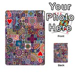Ornamental Mosaic Background Playing Cards 54 Designs  Front - Heart9