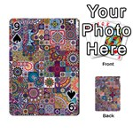 Ornamental Mosaic Background Playing Cards 54 Designs  Front - Spade9