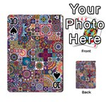 Ornamental Mosaic Background Playing Cards 54 Designs  Front - Spade10