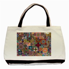 Ornamental Mosaic Background Basic Tote Bag