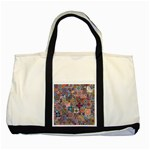Ornamental Mosaic Background Two Tone Tote Bag Front