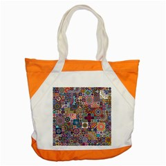 Ornamental Mosaic Background Accent Tote Bag