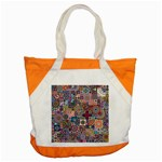 Ornamental Mosaic Background Accent Tote Bag Front