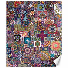 Ornamental Mosaic Background Canvas 8  x 10