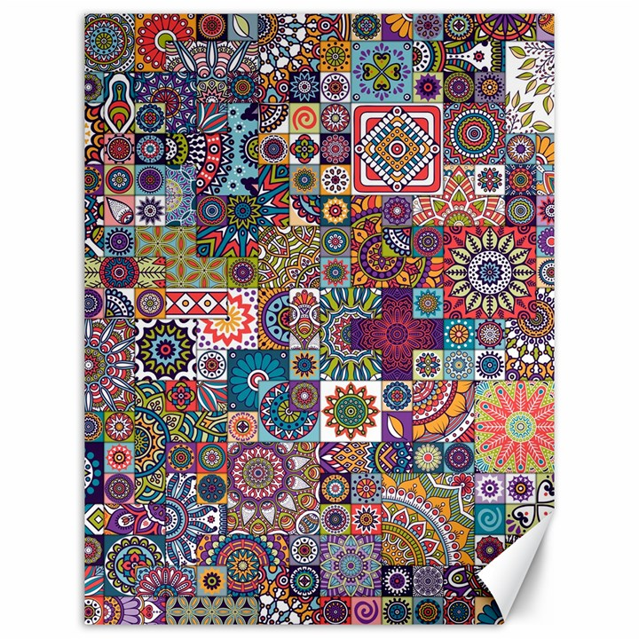 Ornamental Mosaic Background Canvas 12  x 16