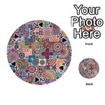 Ornamental Mosaic Background Playing Cards 54 (Round)  Front - Spade2