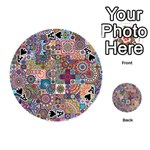 Ornamental Mosaic Background Playing Cards 54 (Round)  Front - SpadeA
