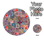 Ornamental Mosaic Background Playing Cards 54 (Round)  Front - HeartQ