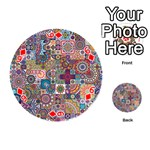 Ornamental Mosaic Background Playing Cards 54 (Round)  Front - Diamond6