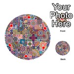 Ornamental Mosaic Background Playing Cards 54 (Round)  Front - DiamondJ