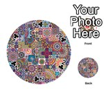 Ornamental Mosaic Background Playing Cards 54 (Round)  Front - Club2