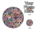 Ornamental Mosaic Background Playing Cards 54 (Round)  Front - Club3