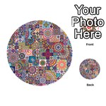 Ornamental Mosaic Background Playing Cards 54 (Round)  Back
