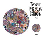 Ornamental Mosaic Background Playing Cards 54 (Round)  Front - SpadeJ