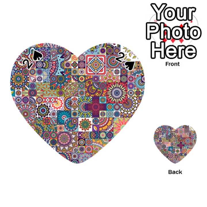 Ornamental Mosaic Background Playing Cards 54 (Heart)