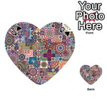 Ornamental Mosaic Background Playing Cards 54 (Heart)  Front - SpadeQ