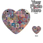 Ornamental Mosaic Background Playing Cards 54 (Heart)  Front - SpadeA