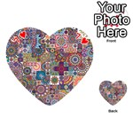 Ornamental Mosaic Background Playing Cards 54 (Heart)  Front - Heart7