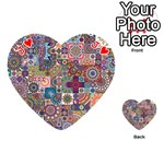 Ornamental Mosaic Background Playing Cards 54 (Heart)  Front - HeartJ