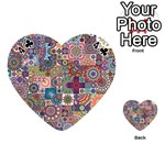 Ornamental Mosaic Background Playing Cards 54 (Heart)  Front - Club4