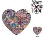 Ornamental Mosaic Background Playing Cards 54 (Heart)  Front - Club8