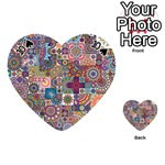 Ornamental Mosaic Background Playing Cards 54 (Heart)  Front - Spade10