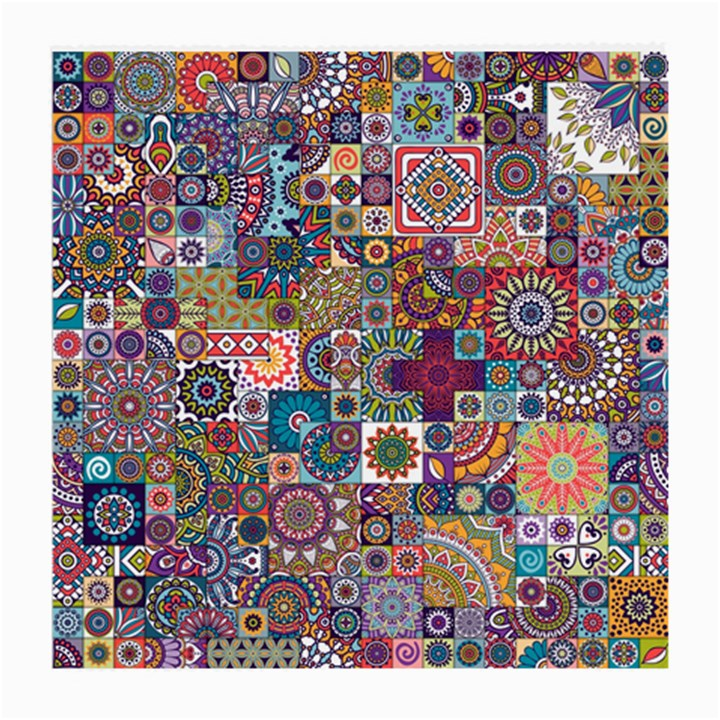 Ornamental Mosaic Background Medium Glasses Cloth (2-Side)