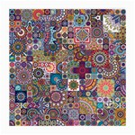 Ornamental Mosaic Background Medium Glasses Cloth (2-Side) Back