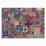 Ornamental Mosaic Background Large Glasses Cloth (2-Side) Front