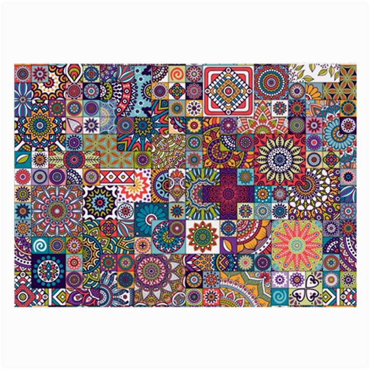 Ornamental Mosaic Background Large Glasses Cloth (2-Side)