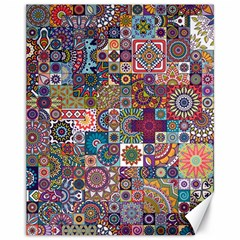Ornamental Mosaic Background Canvas 11  x 14