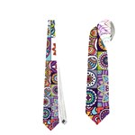 Ornamental Mosaic Background Neckties (One Side)  Front