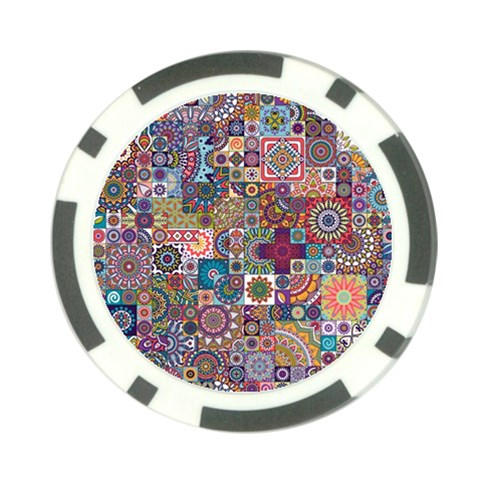 Ornamental Mosaic Background Poker Chip Card Guards