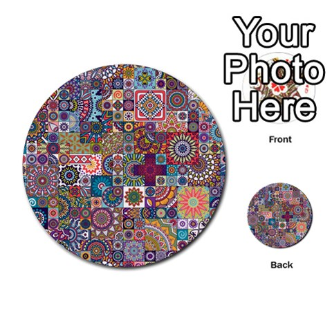 Ornamental Mosaic Background Multi-purpose Cards (Round)