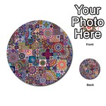 Ornamental Mosaic Background Multi-purpose Cards (Round)  Back 1