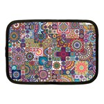 Ornamental Mosaic Background Netbook Case (Medium)  Front
