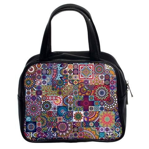 Ornamental Mosaic Background Classic Handbags (2 Sides)