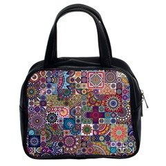 Ornamental Mosaic Background Classic Handbags (2 Sides)
