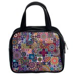 Ornamental Mosaic Background Classic Handbags (2 Sides) Front