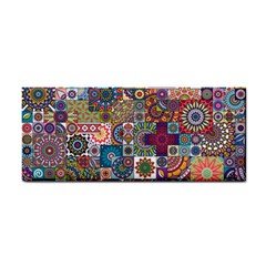 Ornamental Mosaic Background Hand Towel